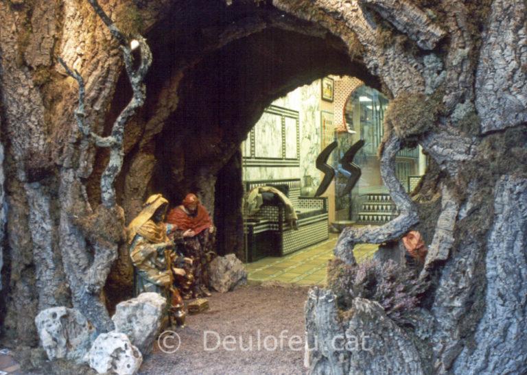 Pessebre per a figures de 90 cm a l'Avinguda Sarrià 1988