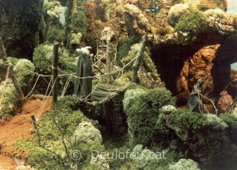 Pessebre d'exposició per Aresa a Plaça Urquinaona 1995