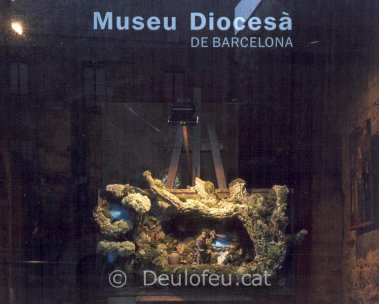 Pessebre a la façana del Museu Diocesà (Pia Almoina)