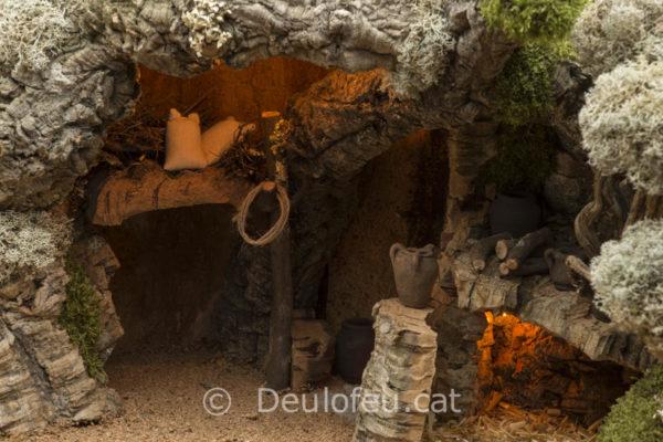 Cova per a figures de col·leccions de 17cm